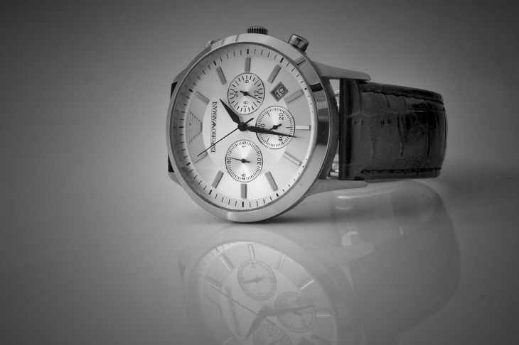 Stylish black men's watch