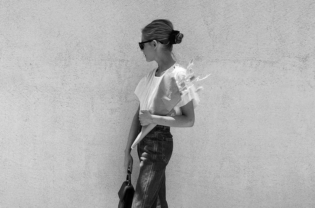 A Parisian woman going for street style.