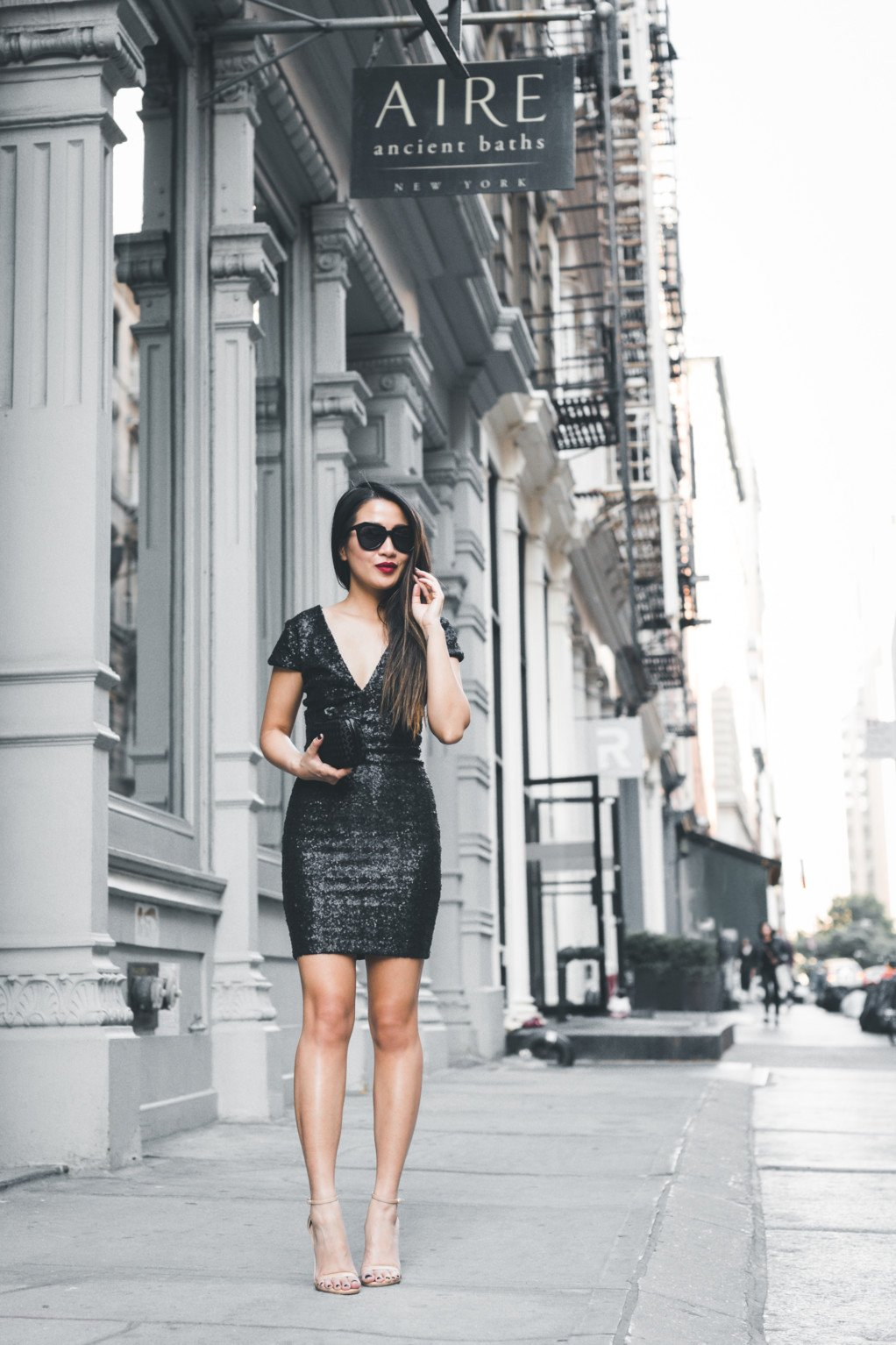 The sequinned black dress is the new lbd